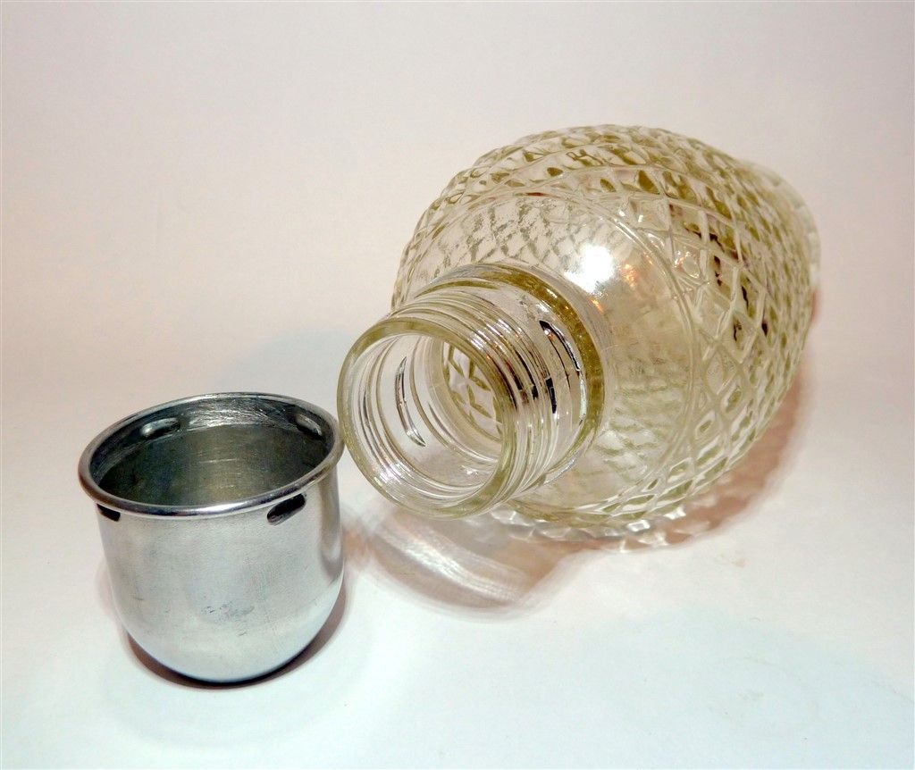 Vintage Bar Mid Century Hobnail Glass Cocktail Shaker